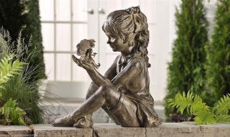 Скульптуры под бронзу. Особенности расположения на участке